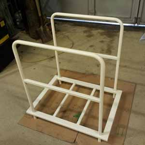 Rack frame finished in cream